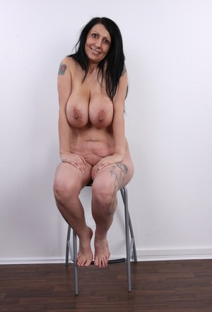image Mature woman with big tits fucking with big dildo